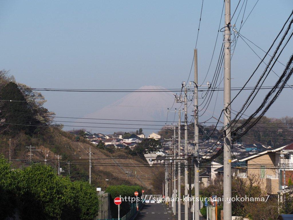 上郷公田線の富士山